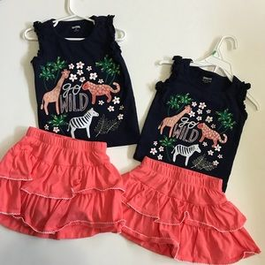 Gymboree sister outfit: 4T top/3T bottom